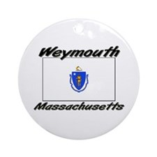 Weymouth Massachusetts Ornament (Round)
