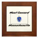 West Concord Massachusetts Framed Tile