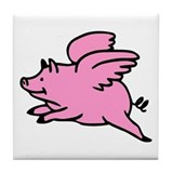 Flying Pig Tile Coaster