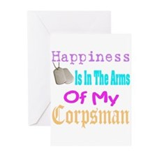 happiness is in the arms of m Greeting Cards (Pk o