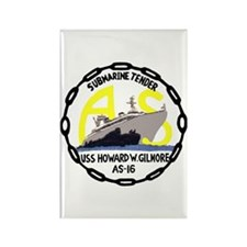 USS Howard W. Gilmore (AS 16) Rectangle Magnet (10
