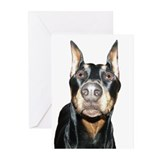 Dobie Nose Greeting Cards (Pk of 10)