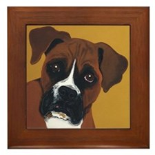 Boxer Dog THE LOOK framed tile