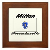 Milton Massachusetts Framed Tile