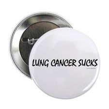 Lung Cancer Sucks 3 Button
