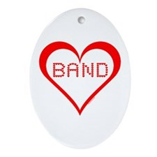 Band Hearts Oval Ornament