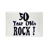 50 Year Olds Rock ! Rectangle Magnet (10 pack)