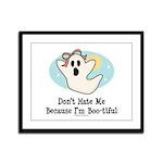 Halloween Bootiful Ghost Framed Panel Print