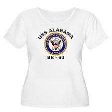 USS Alabama BB 60 Women's Plus Size Scoop Neck Tee