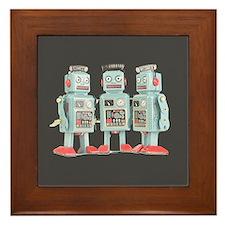 Vintage Robots Framed Tile