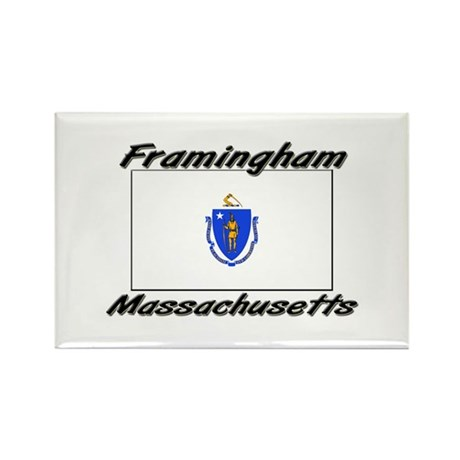 Framingham Massachusetts Rectangle Magnet