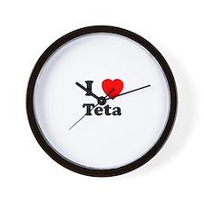 I heart Teta Wall Clock