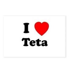 I heart Teta Postcards (Package of 8)