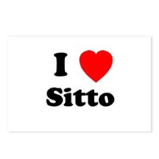 I heart Sitto Postcards (Package of 8)