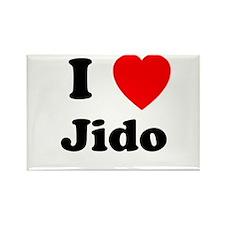I heart Jido Rectangle Magnet (100 pack)