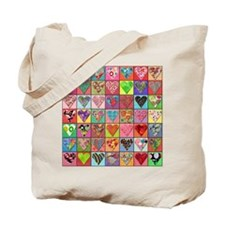 Heart Quilt Tote Bag