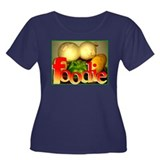 Foodie Women's Plus Size Scoop Neck Dark T-Shirt