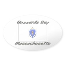 Buzzards Bay Massachusetts Oval Decal