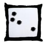 Bullet Holes Throw Pillow