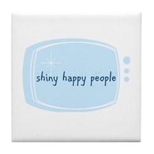 Shinny Happy People Tile Coaster