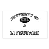Property of a Lifeguard Rectangle Decal
