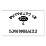 Property of a Legionnaire Rectangle Decal