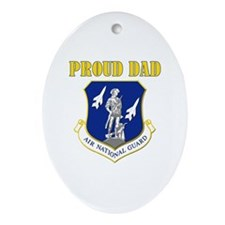 Proud dad Oval Ornament