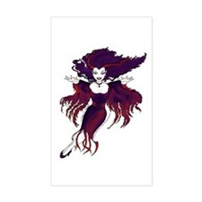 Halloween Vampiress Rectangle Decal