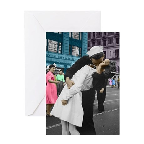 The WWII Kiss Greeting Card