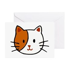 Calico Cat Cartoon Greeting Cards (Pk of 20)