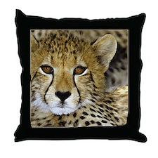 Cheetah Face Throw Pillow