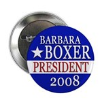 Barbara Boxer for President 2008 Button