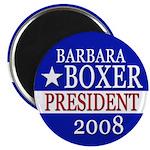 Barbara Boxer for President 2008 Magnet