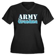 Army Grandma Women's Plus Size V-Neck Dark T-Shirt