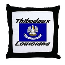Thibodaux Louisiana Throw Pillow