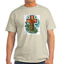 Easter Cross Ash Grey T-Shirt