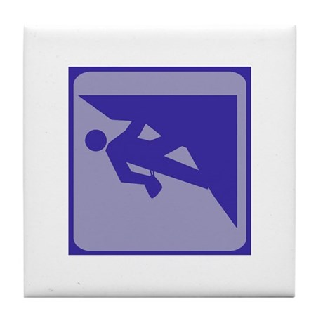 Climbing Guy Icon Tile Coaster