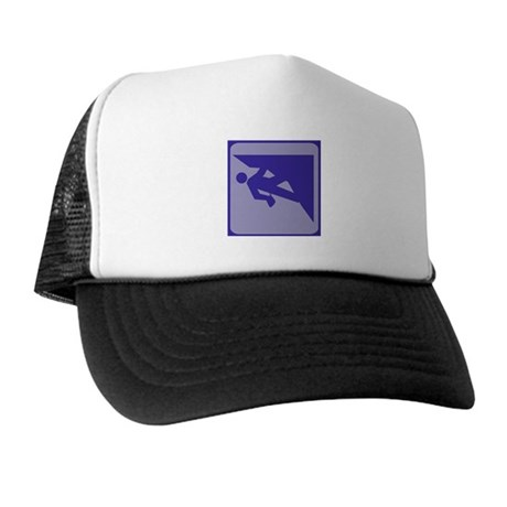 Climbing Guy Icon Trucker Hat