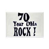 70 Year Olds Rock ! Rectangle Magnet (100 pack)