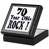 70 Year Olds Rock ! Keepsake Box