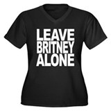 Leave Britney Alone Women's Plus Size V-Neck Dark