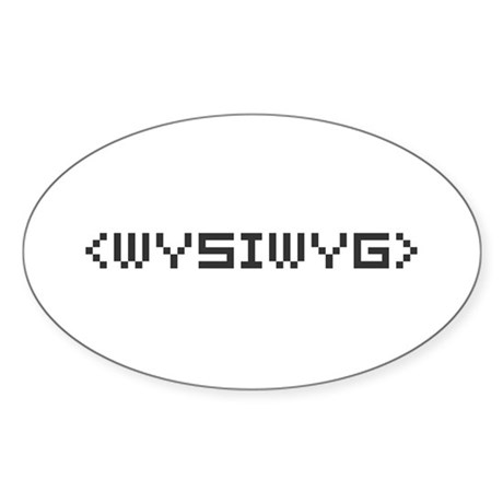 WYSIWYG Oval Sticker