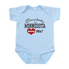 Somebody in Minnesota Loves Me Infant Bodysuit