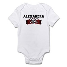alexandra is a pirate Infant Bodysuit