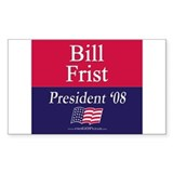 """Bill Frist for President"" Rectangle Decal"