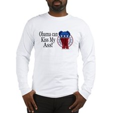 Obama Kiss my Ass Long Sleeve T-Shirt