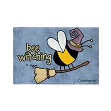 Bee witching Rectangle Magnet