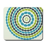 Beaded Circles Retro Mod Mousepad
