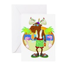 Miami Moose - Card Full Bleed Greeting Cards