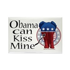 Obama, Kiss Mine Rectangle Magnet